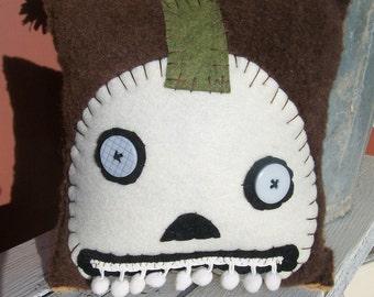 White Halloween Pumpkin with Teeth