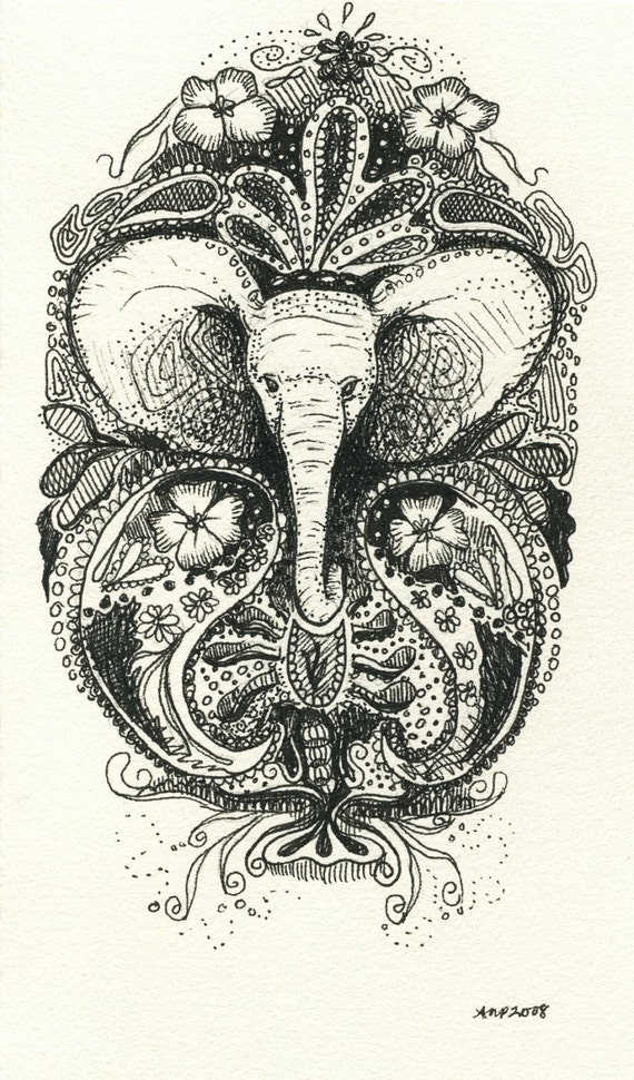 White elephant henna style tattoo reserved for for White henna tattoo ink