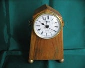 Hand-Crafted Rustic Mantle Clock
