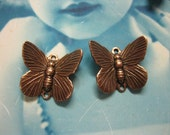 Copper Ox Plated Brass Butterfly Connectors  326COP x4