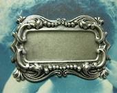 Sterling Silver Ox Plated Brass Bezel Tray Frame 27SOX x1