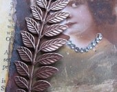 Copper Ox Plated Fern Branch Stamping Bent or Straight 91COP x1
