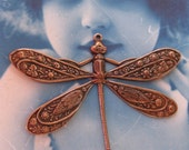 Copper Ox Plated Ornately Detailed Dragonfly Pendant 322COP x1