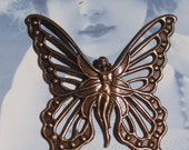 Copper Ox Plated Fairy Goddess Butterfly Stamping Pendant 717COPx1