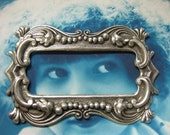 Sterling Silver Ox Plated Frame Stamping 25SOX x2