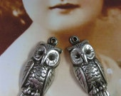 Silver Ox Plated Owl Charms 739SOX x2