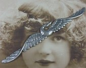 Silver Ox PLated Large Flying Goose Stamping Bent or Straight 822SOX x1
