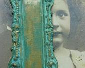 Verdigris Patina Brass Bezel Flourish Frame 28VER x1