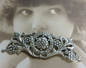 Sterling Silver Ox Plated Floral Ornate Filigree  1018SOX x1