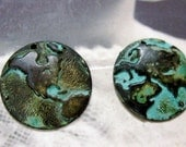 Around The World Globe Charms Verdigris Patina 550VER x2