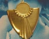 13mm Deco Style Bezel raw brass Jewelry 199RAW x2