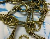 Tibet Handmade Alloy 38 inch Bronze Ox Patina Designer Chain 983BRZ x1