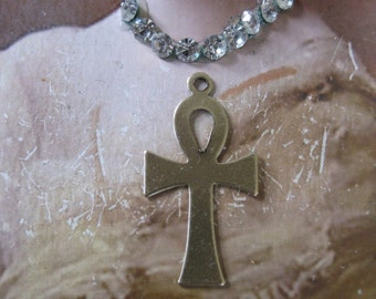 Ankh Brass Ox plated Charms Jewelry Supplies 516BOX x2