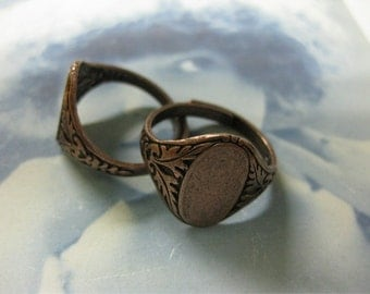 Copper Ox Plated  Adjustable Rings 774COP x2
