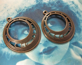 Copper Ox Plated Brass Hoops 484COP x2