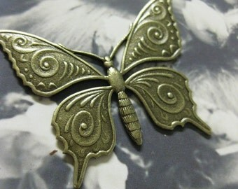 Brass Ox Plated Monarch Butterfly Stampings 330BOX x2