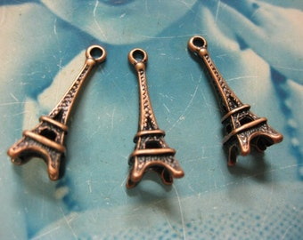 Copper Ox Plated Eiffel Tower Charms 707COP x4
