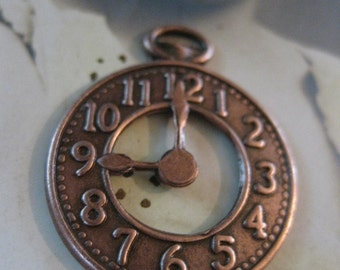 Copper Ox Plated Pocket Watch Charms Pendants 570Cop x2