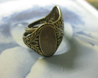 Brass Ox Plated  Adjustable Rings 774BOX x2