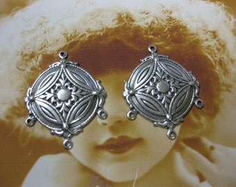 Silver Ox Plated Earring Chandeliers 460SOX x2