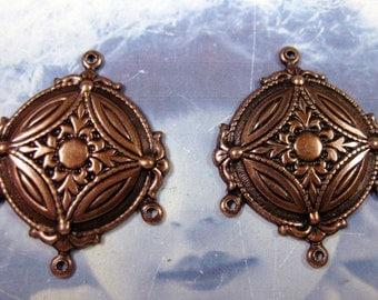 Copper Ox Plated Earring Chandeliers 460COP x2