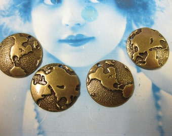 Brass Ox Plated Around the World Globe Charms 550BOX x2