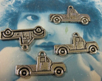 Antique Silver Pickup Truck Charms 943SIL x4