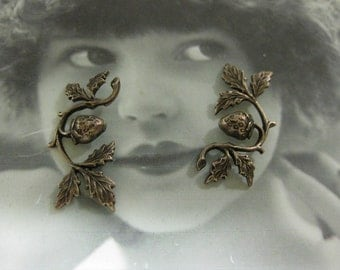Copper Ox Plated Strawberry on a Vine Stampings 738COP x2