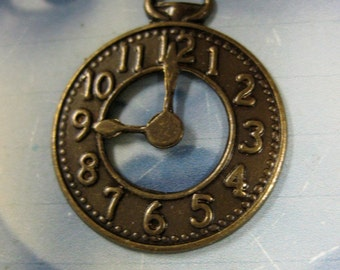 Brass Ox Plated Pocket Watch Charms Pendants 570BOX x2