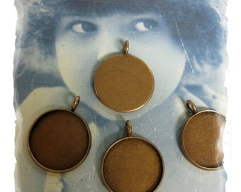 Copper Ox Plated 18mm Bezel Frame Charms 1035COP x4