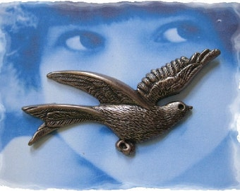 Copper Ox Plated Large Birds in Flight Stampings 660COP X2