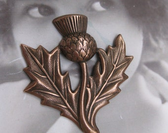 Floral Thistle Stamping Copper Ox Plated  1053COP x1