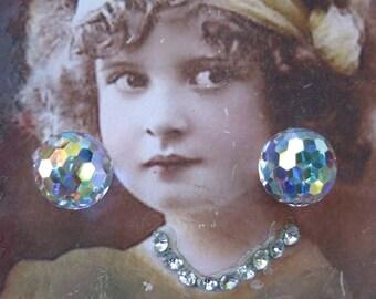 Vintage Swarovski Comet Argent Light VZ Crystals x2