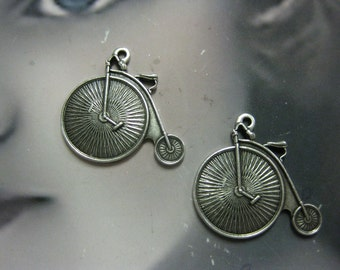 Silver Ox Plated Mini Bicycle Charms 2009SOX x2