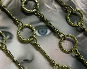Tibet Handmade  Alloy 35 inch  Bronze Ox Plated Designer Chain 1034BRZ x1
