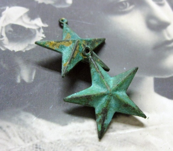 Star Charms Verdigris Patina 132VER x2