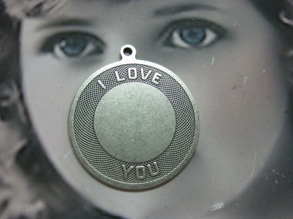 32mm Silver Ox Plated I Love You Charms  2028SOX x2