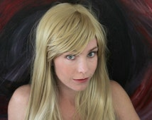 WIGOUT SALE // BombShell Blonde Wig // Long Blonde Wig // Curl or Straight Heat Styleable