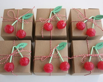 Cherry Lollipops from Europe - Set of 6