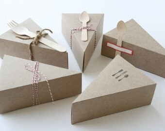 100 LIDDED Wedge-Shaped Pie BOXES (ONLY)