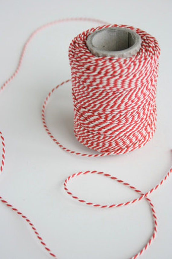 Deluxe European Red and White Twine - 120 yards