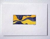 SALE - Mini Drawing - Yellow
