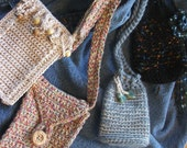 PATTERN - Crochet pattern for Small and Sassy Summer Purses to Crochet - 3 styles, permission to sell