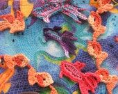 Animal CROCHET PATTERN - Instant Download - Two Tiny Fish Appliques and a Goldfish Edging to Make