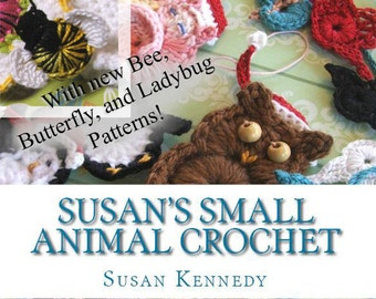 Animal Crochet PATTERNS - NEW Expanded Applique Pattern Set, 13 Animals - Birds, Bees, Owl, Cat, more - Instant Download