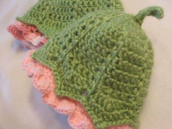 Baby Hat Crochet Pattern - Instant Download Pattern for Photo Prop Baby Cap -  My Darling Little Flower Bud