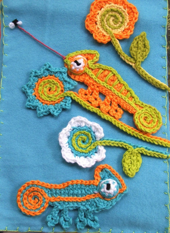 Crochet Stitches Pdf Free Download : Instant Download Crochet PATTERNS CHAMELEON pdf Crochet