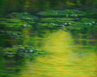 Water Lilies Oil Painting 24x30 ZEN