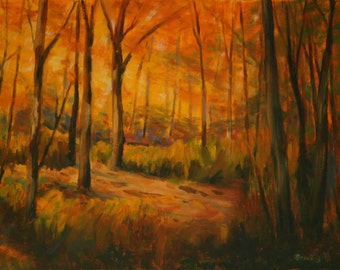 Original Oil Painting AUTUMN BLAZE 18x24