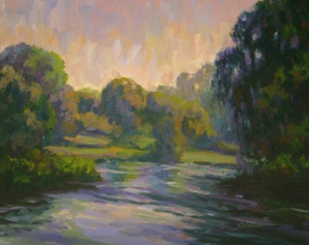 Oil Painting LAVENDER EVENING 18x24